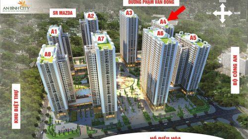 Chi tiết mẫu thiết kế mặt bằng của 8 toà chung cư An Bình City