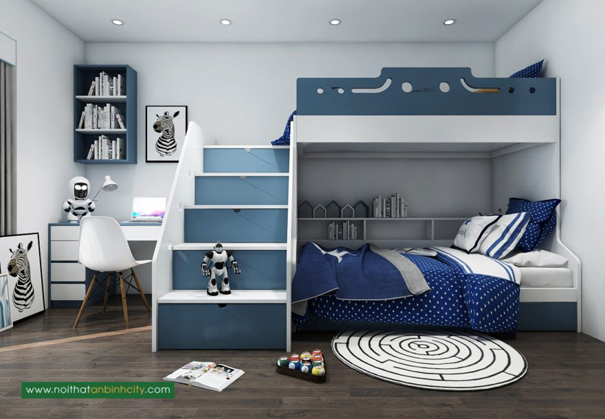 Giường ngủ thông minh cho căn hộ chung cư 75m2