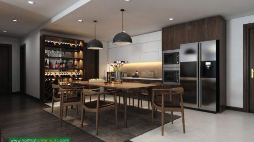 Thiết kế nội thất chung cư 115m2 nhà chị Phượng - An Bình City