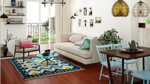 Thiết kế nội thất chung cư 75m2 nhà anh Mạnh- căn hộ A1 An Bình City