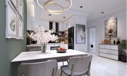 Thiết kế nội thất căn hộ C1 98m2 nhà chị Hạnh - Goldsilk