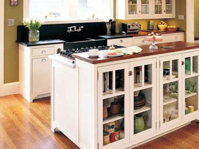 Ý tưởng nội thất độc đáo: Tủ bếp 2 chiều