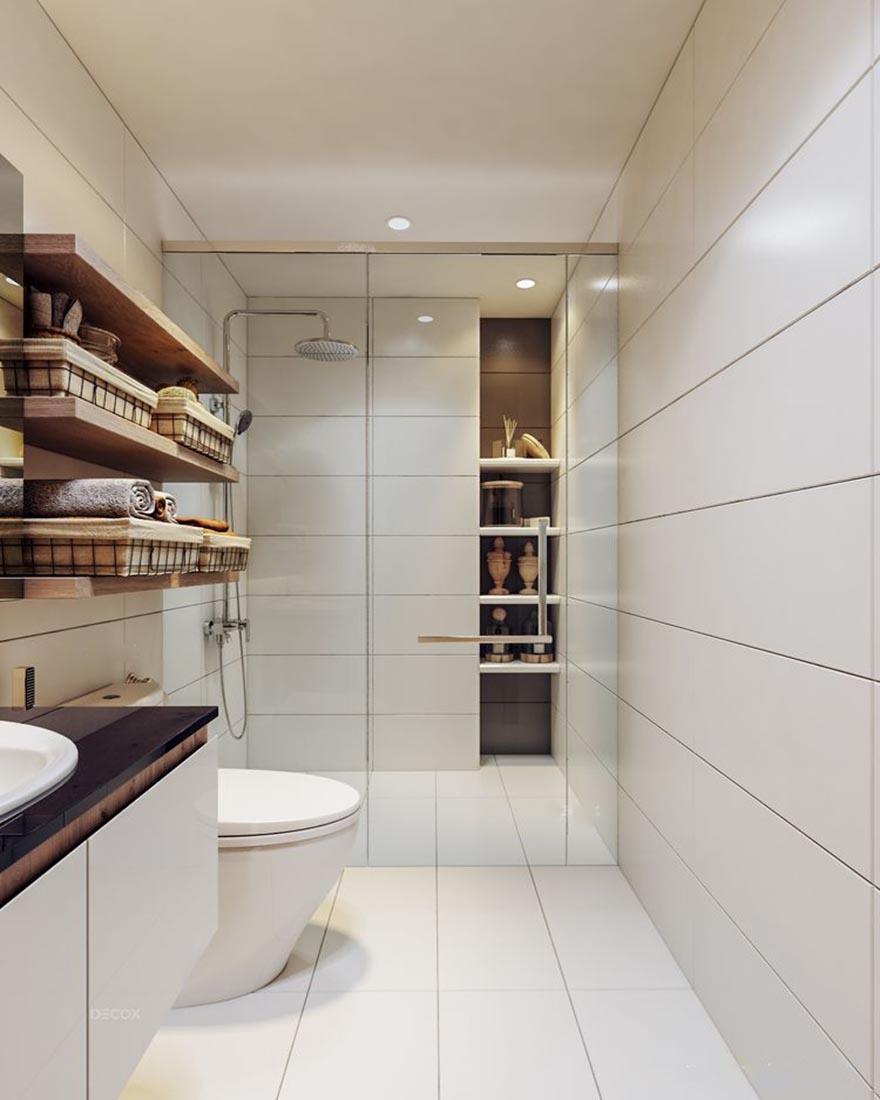 Một góc phòng tắm bắt kịp xu hướng thiết kế nội thất hiện nay