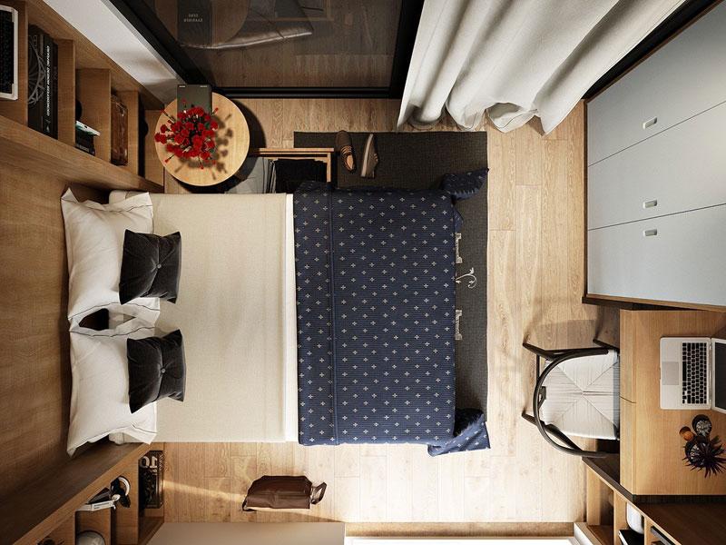 Cách bố trí nội thất phòng ngủ 12m2