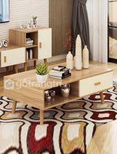 Bàn trà gỗ phòng khách nhập khẩu, Bàn sofa GHC-498