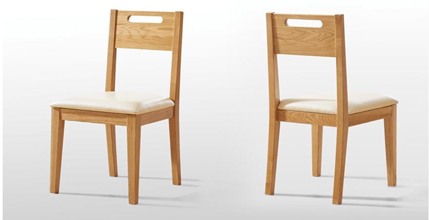 Ghế đồng bộ với mẫu bàn gỗ sồi chắc chắn, đẹp sang trọng