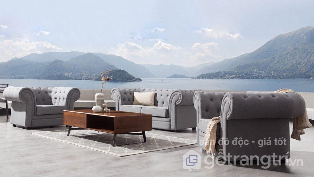 Xem thêm mẫu bàn sofa gỗ sồi tự nhiên và ghế sofa tân cổ điển như hình trên có bán tại Nội thất Go Home