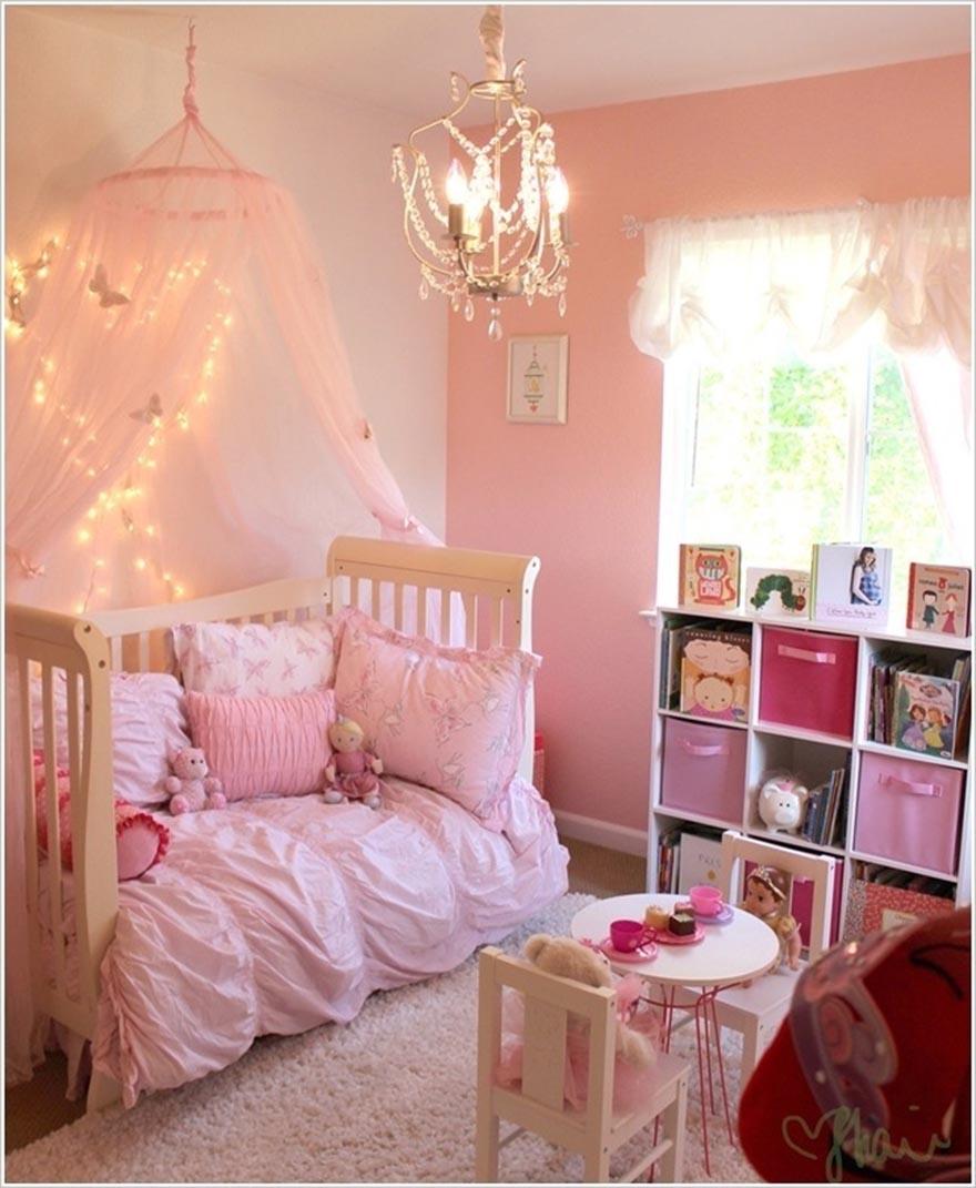 Cách trang trí phòng ngủ cho bé gái với đèn Led