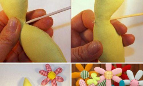 Mách bạn cách làm chậu hoa bằng vải cực đáng yêu để trang trí phòng