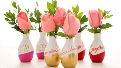 4 cách tái chế chai lọ thủy tinh làm bình hoa trang trí cực đơn giản