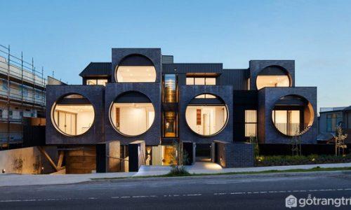Căn hộ chung cư với những ô cửa sổ tròn ở Melbourne