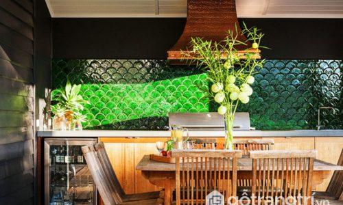 Trang trí gạch men tường hình vảy cá cho ngôi nhà thêm cuốn hút