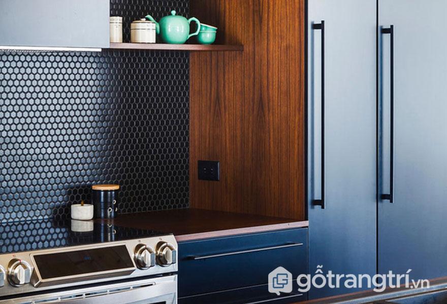 Gạch ốp nhà bếp theo phong cách hình học - Afamily.vn