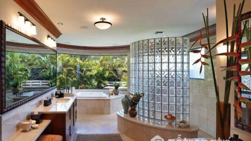 Gạch thủy tinh - Làn sóng mới cho không gian phòng tắm hiện đại
