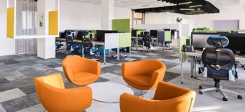 Màu sắc trong thiết kế nội thất văn phòng cho không gian tươi trẻ