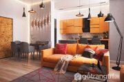 Thắp sáng không gian nội thất màu cam tràn đầy năng lượng