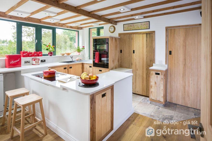 Tủ bếp gỗ tần bì có tốt không?