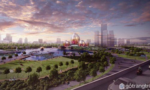 Dự án kiến trúc hình dáng hoa sen tại Hà Nội được đề xuất thực hiện