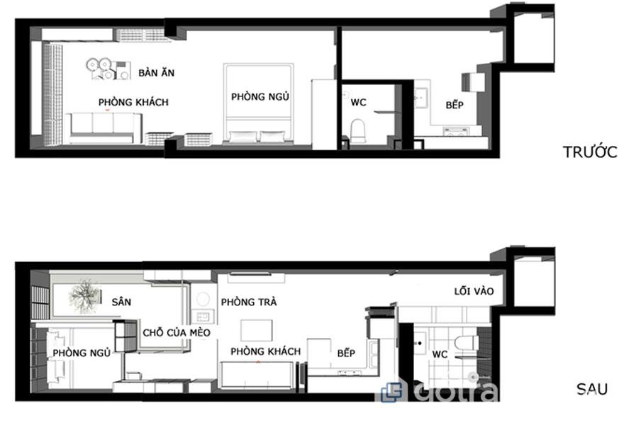 Căn hộ 31m2 không có cửa sổ - Ảnh: Archdaily