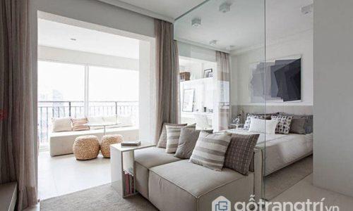 Căn hộ 35 m2 rộng trong tích tắc khi sử dụng nhiều vật liệu kính