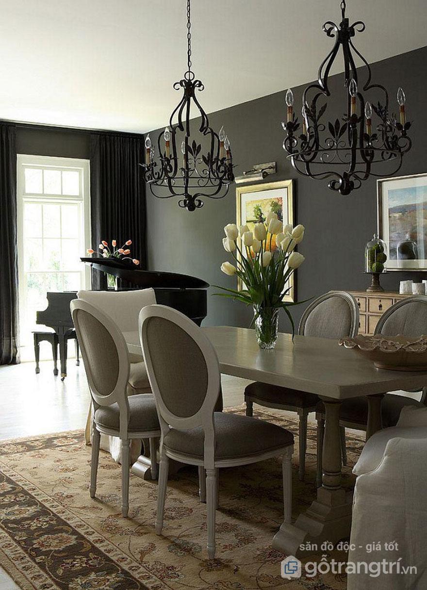 Đèn thả trần trang trí màu đen dùng nhiều trong trang trí nội thất