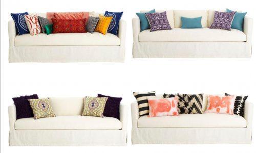Tư vấn cách kết hợp gối tựa lưng cho bộ sofa đơn giản thêm độc đáo