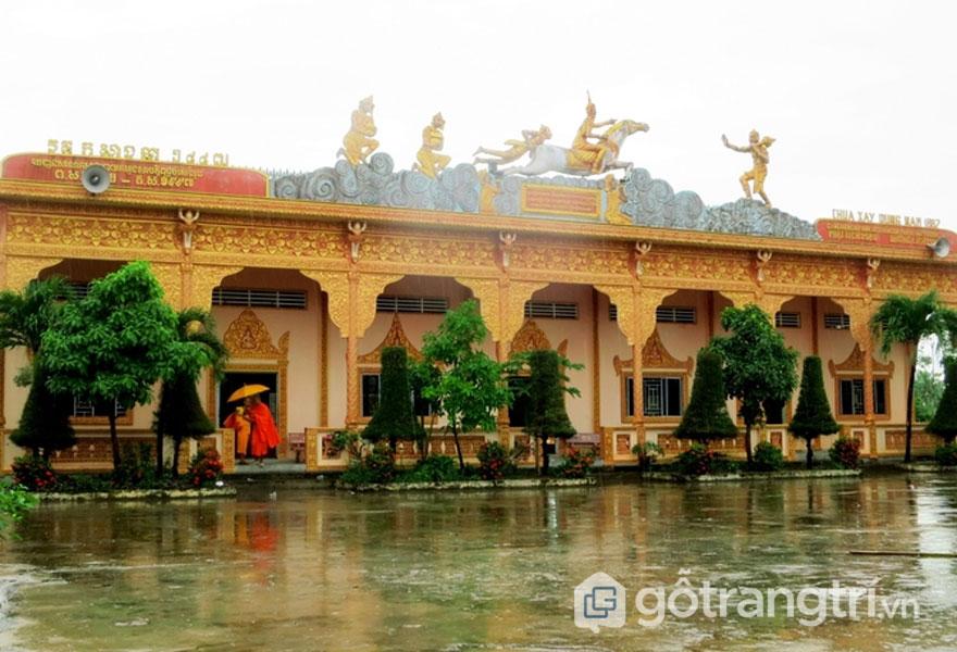 Chùa Xiêm Cán - Kiến trúc chùa cổ miền tây - Ảnh vnexpress.net