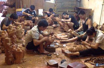 """Khám phá """"đại công xưởng"""" gỗ ở làng nghề truyền thống Đồng Kỵ - Bắc Ninh"""