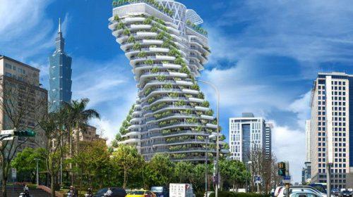 Kiến trúc xanh bền vẵng của tòa nhà xoắn ốc độc đáo ở Đài Loan