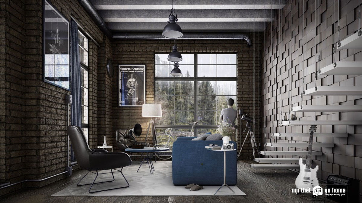 Thiết kế nội thất phong cách công nghiệp