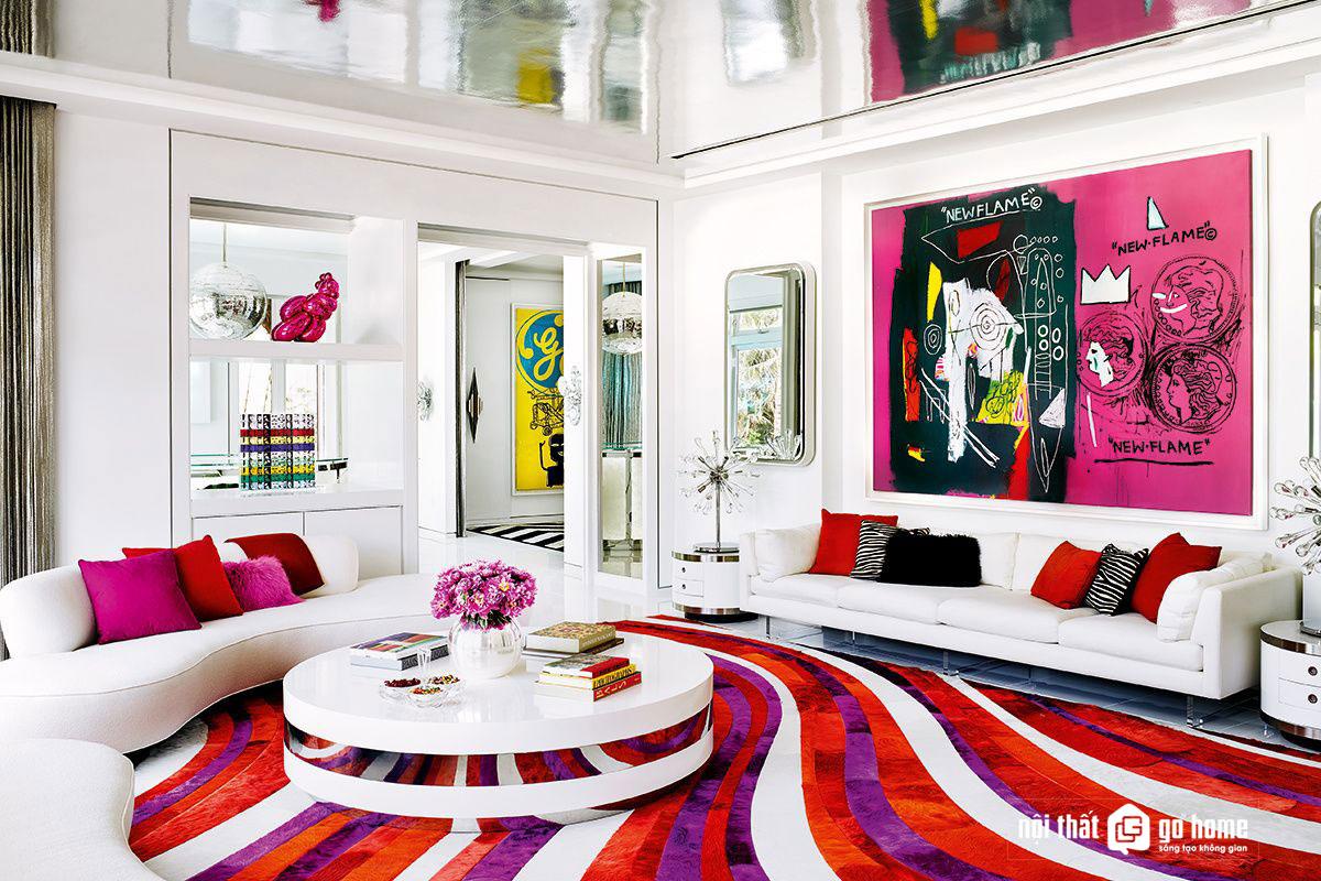 Thiết kế nội thất phong cách pop art