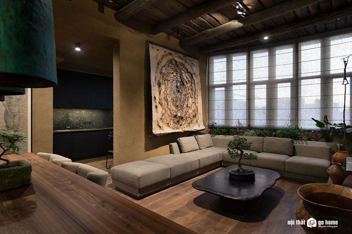 Thiết kế nội thất phong cách Wabi sabi