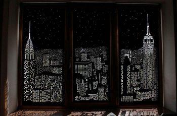 Rèm cửa đục lỗ - Vật liệu nội thất mới thu hút và đẹp bất ngờ