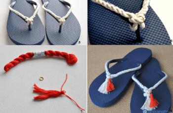 Trang trí giày dép bằng dây thừng: Độc đáo, mới lạ và vô cùng cá tính