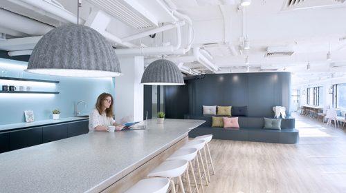 Lối kiến trúc hiện đại củavăn phòng làm việc Uber tại Hong Kong