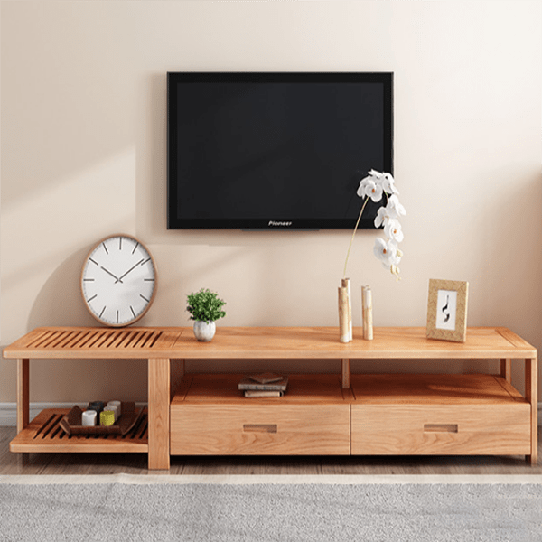 Kệ tivi gỗ sồi tự nhiên thiết kế đẹp GHS-3256