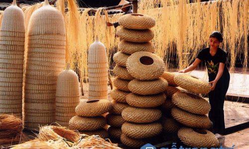 Khám phá nét độc đáo của làng nghề đan lát Bao La, Quảng Điền, Huế