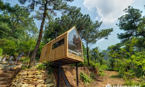 Kỳ lạ ngôi nhà gỗ bên rừng độc nhất vô nhị tại Sóc Sơn Hà Nội