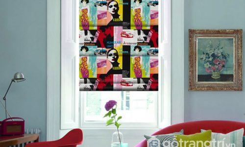 Rèm cửa theo phong cách Pop Art trang trí nhà sáng tạo và đẹp mắt