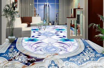 Sàn nhà 3D phòng khách - Vật liệu thiết kế cực sống động, bắt mắt