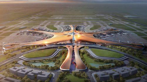 """""""Ngó nghiêng"""" kiến trúc sân bay lớn nhất thế giới tại Bắc Kinh"""