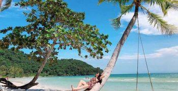 """Chiếc xích đu và cây dừa đổ """"thần thánh"""" khi du lịch Phú Quốc"""