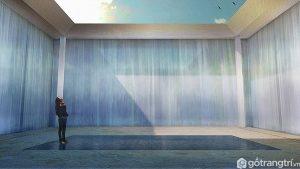 Đài phun nước cung cấp một nơi để chiêm ngưỡng