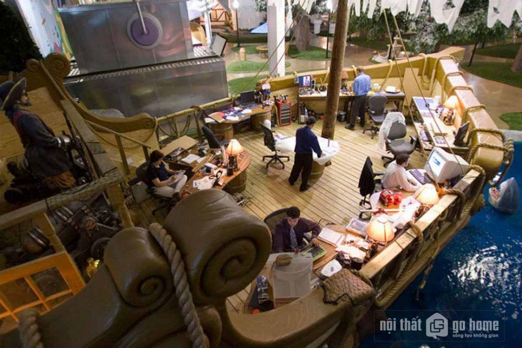 Thiết kế nội thất văn phòng của Inventionland
