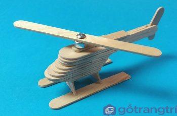 Cách làm máy bay trực thăng mini bằng que kem gỗ handmade