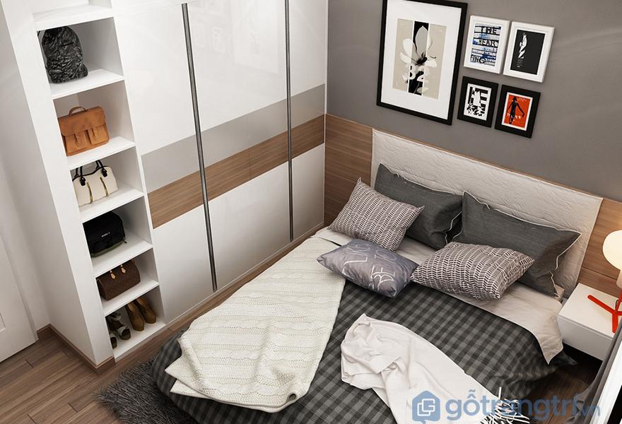 Thiết kế tủ áo trong phòng ngủ ông bà