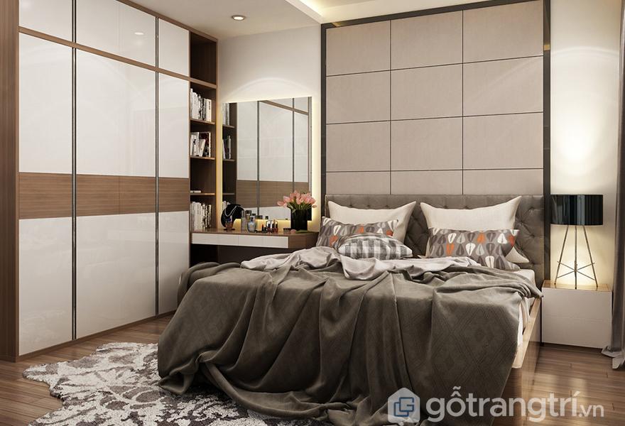 Thiết kế hiện đại trong phòng ngủ bố mẹ