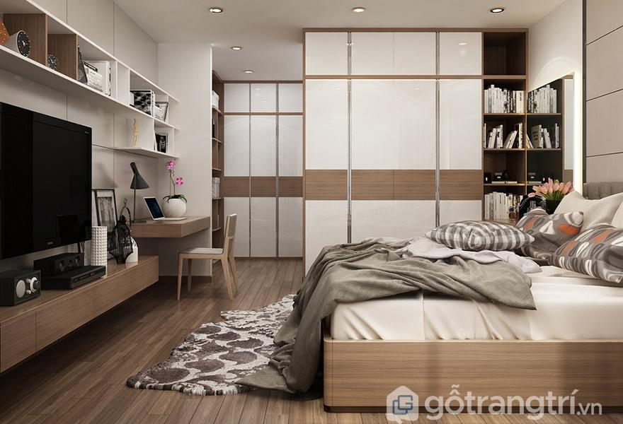 Phòng ngủ bố mẹ mang phong cách phóng khoáng