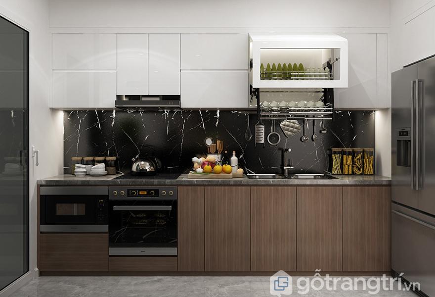 Tủ bếp không tay nắm an toàn cho người sử dụng