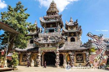 Chùa Linh Phước - Công trình kiến trúc đậm đà bản sắc Á Đông